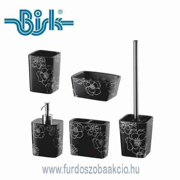 Fürdőszoba Kiegészítők BISK Bloom Fekete Fürdőszoba Kiegészítő
